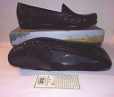 Sz 12 Narrow Loafers SAS Black Croc SIMPLIFY Moc Toe Patent Leather Tripad Comfy