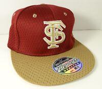 NCAA Florida State Seminoles Strech Size Flat Bill Zephyr Hat Cap Noles M/L