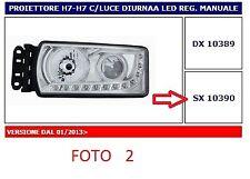 10390 FARO PROIETTORE (HEAD LAMP) SX H7-H7 C/LUCE DIURNA LED REG. MANUALE IVECO