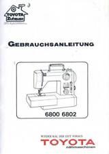 Gebrauchsanleitung Operating Instructions TOYOTA Nähmaschine 6800 6802