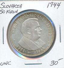 CZECHOSLOVAKIA 50 KORUN 1944 - UNC