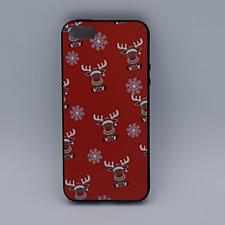 iPhone 5, 5s, SE hoesje  - kerst - Rudolf rednose - rood
