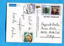 1995 CASTELLI £.50 e DONNE NELL'ARTE £.450 USATI COME SEGNATASSE  (263709)