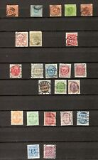 Denmark. 1851-1904. A selection of mostly used early stamps. High Cv.