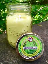 Natural Mosquito Repellent Candle - Deet Free - Naturally Repels Insects with...