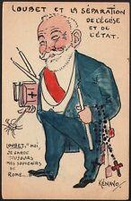 Kénavo (Paul Legrand) Carte peinte. Aquarelle. Loubet. 1905