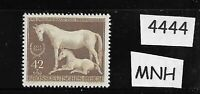 MNH postage stamp / 1944 Brown Ribbon Horse race / Third Reich / Munich Germany