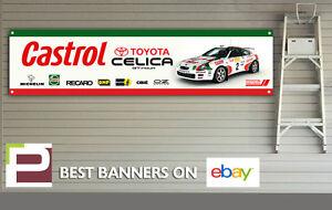Toyota Celica GT-Four Banner for Workshop, Garage, Carlos Sainz Rally, Castrol