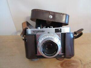 Vintage Voigtlander Vito B 35mm Film Camera Color-Skopar 50mm f3.5 Working +Case