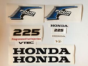 Honda 4-Stroke Outboard  225 hp Decal stickers Kit  Reproduction Decals USA