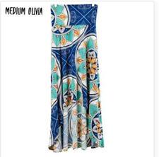 Nwt Lularoe Womens Medium Olivia Skirt Blue