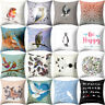 FJ- BIRD OWL PRINTED THROW PILLOW CASE SOFA BED CUSHION COVER HOME CAR DECOR STR