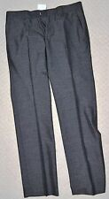 New Designer Premium Savile Row Mens Grey Formal Trouser Flat Front W30 L32