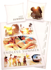 HERDING Joung Collection - Renforcé Bettwäsche, Endless Summer, 135 x 200 cm