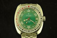 New Russian Vostok Amphibian Divers Automatic Wristwatch Keeping Time