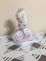 Vintage Lefton Saturday Thursday's Tues Child Angel Figurines K8281 Lot of 3
