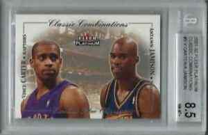 2001-02 Fleer Platinum Antawn Jamison Vince Carter Combinations 653/1000 BGS 8.5