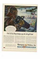 VINTAGE 1944 FIGHTER PLANES LIBERATORS FORTRESS TRUK THOMPSON AIRCRAFT AD PRINT