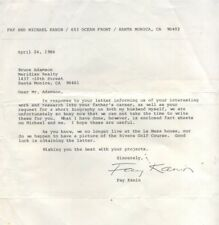 ALS April 24, 1986, Fay Kanin President of the Academy of Motion Pictures