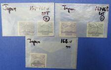 Japan Scott 167 (3 used) and Scott 168 (2 used) (Lot 28)