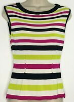 Ann Taylor Women's Sweater Multicolored Stripe Sleeveless Size Medium