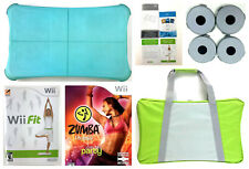 Wii Fit Balance Board Bundle Wii Fit & Zumba Game Carry Case Silicon Skin Tested