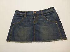 Volcom Junior Womens Size 5 Cut Off Blue Jean Skirt New