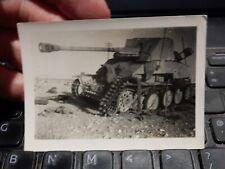 WW2 ORIGINAL PHOTOGRAPH TANK GRAVEYARD CEMETERY  North Africa  C GERMAN AFRICA
