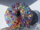Knitting Fever Dazzle Yarn Ladder Trellis Ribbon 3 sk 111 Neons 82 yards each