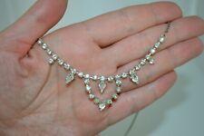 Vintage 1950's clear rhinestone neklace