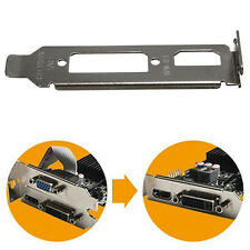 Low Profile Bracket Stand Adapter HDMI DVI Port For Half Height Graphics Card 1x