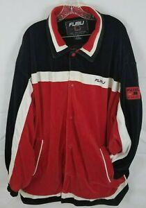 Vintage Fubu 05 Champions XXL League Velour Snap Track Jacket Hip Hop Sz XL RARE