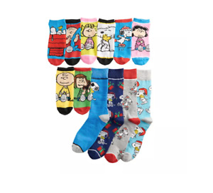 Peanuts 12 Days of Socks Mens Authentic Snoopy Theme Novelty Collectible Box