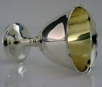 BEAUTIFUL EDWARDIAN ENGLISH SOLID STERLING SILVER EGG CUP 1903 ANTIQUE