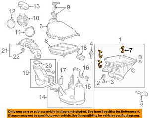 HONDA OEM Air Cleaner Intake-Air Cleaner Body Clip 17217P2J300