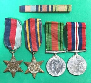 WWII BRITISH ARMED SERVICES MEDAL GROUP + PAPERS - HENRY WEBSTER - WARRINGTON