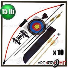 "Bonus Arrow Pack 44"" Junior Long Bow and Arrow Recurve Archery Set Kids/Youth"