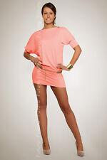Sinnlich Damen Kleid mit Reißverschluss U-Boot-Ausschnitt Tunika Stil Größe 8-12