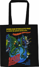 YOG MONSTER FROM SPACE BLACK COTTON TOTE SHOPPER BAG SCI-FI HORROR TENTACLES