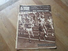 JOURNAL MIROIR DES SPORTS BUT CLUB 704 25 aout 1958 mimoun athletisme