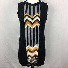Used Missoni For Target Black Knit Tribal Chevron Striped Dress Womens sz S