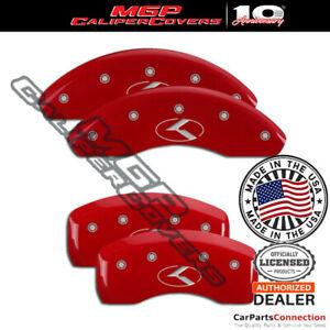 MGP Caliper Brake Cover Red 21069SCRKRD Front Rear For Kia Forte 2018-2019