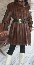 Elegant Designer Custom Dark Brown Mink Fur Coat Jacket Bolero S/M-10