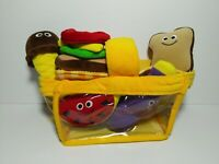 Melissa & Doug Picnic Basket Soft Play Pieces Food Drink #3048 New Without Box