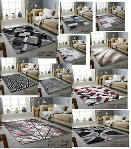 New Stylish Modern Small, Large Soft Area Rugs Living Room Bedroom Rug Carpet