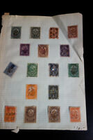 US Revenue Stamps 33x Different Stamps on page