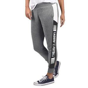 NFL Los Angeles Raiders Officially Licensed Women's Fleece Tailgate Pants G-III