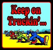 "4"" Keep on Truckin' vinyl sticker. Grateful Dead, R. Crumb decal for car, laptop"