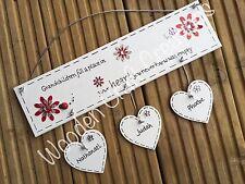 Personalised Handmade Wooden Grandchildren Plaque Grandparent Sign Gift