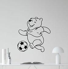 Winnie The Pooh Wall Decal Poster Nursery Vinyl Sticker Kids Soccer Decor 220hor